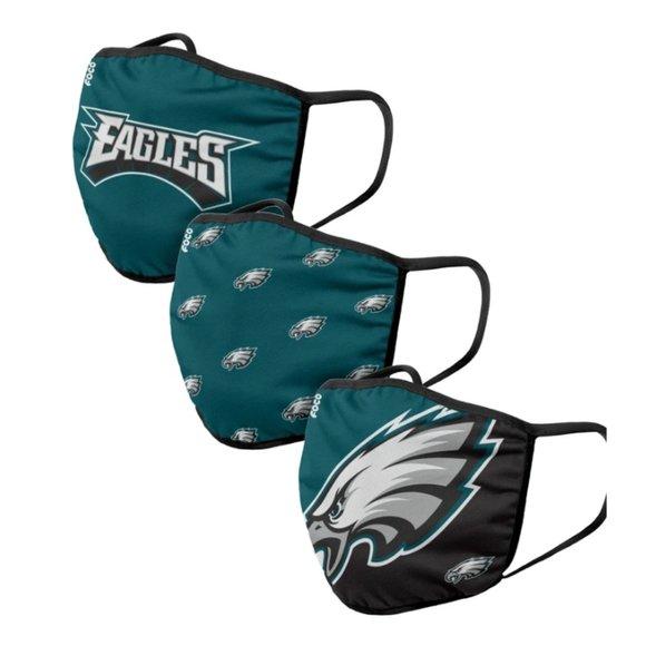 NFL Philadelphia Eagles 3 Pack Face Cover